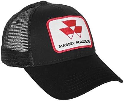 J/&D Productions Black Massey Ferguson Tractor Logo Hat with Mesh Back