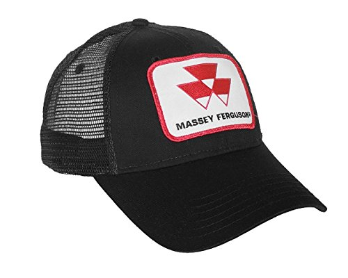 Black Massey Ferguson Tractor Logo Hat with Mesh Back