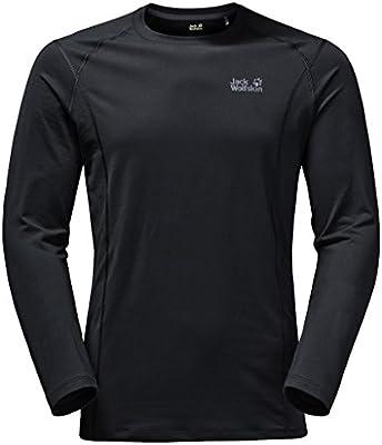 244a4e8c2bf010 Jack Wolfskin Men's Hollow Range Long Sleeve Top, Black, Large ...