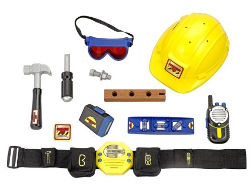 [Tek Nek Construction Crew Role Play Set] (Construction Worker Girl Costume)
