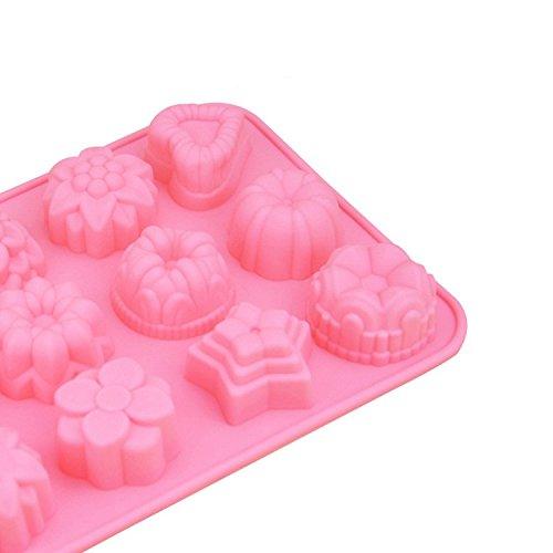 e2o Tech Flower Seife Mould Silikon Seife Formen einfach DIY Silikonform Silikon Kuchen Form 12/Mulden
