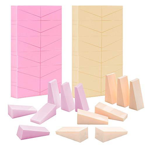 48 Pcs de Esponjas Maquillaje - Cunas Esponja Mezcladora de Belleza Sin Latex, Esponja de Maquillaje Beauty Blender Esponja Reutilizable,Beauty Sponge Triangular para Polvo/Crema/Liquido/Unas