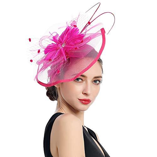Women Fascinators Kentucky Derby Hair Clip Headband Wedding