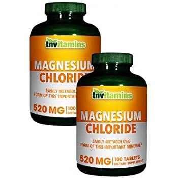 TNVitamins Magnesium Chloride 520 Mg (2 x 100 Tablets)