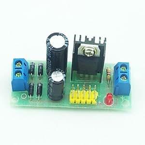 tensión continua L7805 ac módulo regulador estabilizador negro