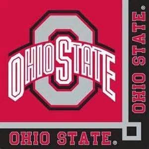 Ohio State 2 Ply Beverage Napkins 50 Count