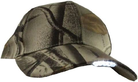 Headlamp Camo 5 LED Lighted Hunting Hat