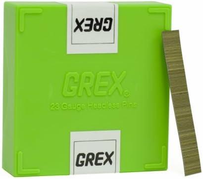 10,000 per box GREX P6//12L 23 Gauge 1//2-Inch Length Headless Pins Fіvе Расk