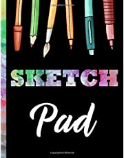 """Sketch Pad: Large Sketch Book for Drawing, Doodling, Writing, Painting and Sketching 109 Pages 8.5"""" x 11"""" Blank Paper Sketchbook for Artist"""