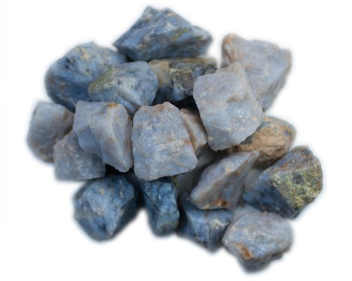 Hypnotic Gems Materials: 1 lb Bulk Rough Blue Quartz Stones from Madagascar - Raw Natural Crystals for Cabbing, Cutting, Lapidary, Tumbling, Polishing, Wire Wrapping, Wicca and Reiki Crystal Healing