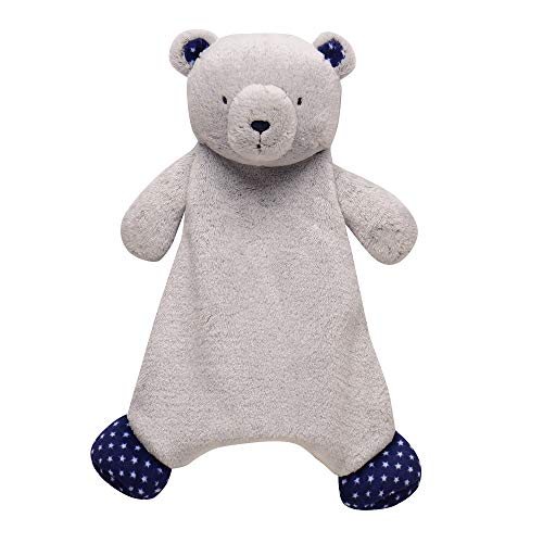 (Little Me Cuddle Plush Embroidered Bear with Rattle)