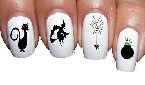 (20 Halloween Witch Setting Decal Nail Art Tattoos by Sassy-Nailz)