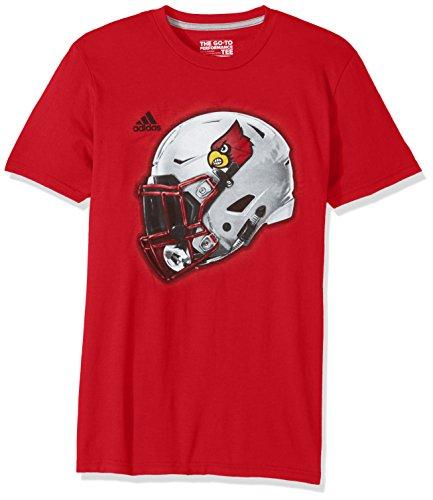 Red Cardinals T-shirt Football (NCAA Louisville Cardinals Adult Men 2017 Helmet Ultimate S/Tee, X-Large, Power Red)