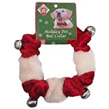 Outward Hound Kyjen  PP01761 Dog Bell Collar Holiday Accessory For Dogs, Large, Red