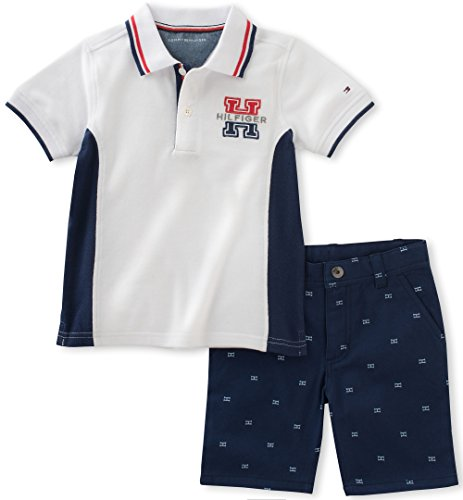 tommy-hilfiger-baby-boys-2-pieces-polo-set-printed-shorts-white-3-6m