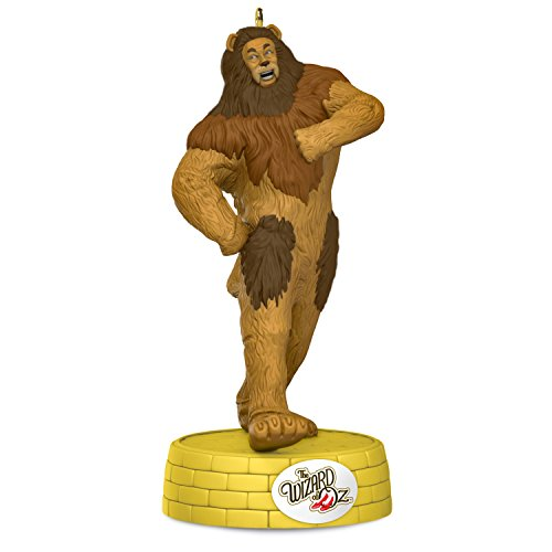 Hallmark Keepsake 2017 THE WIZARD OF OZ COWARDLY LION If I Only Had the Nerve Musical Christmas Ornament -