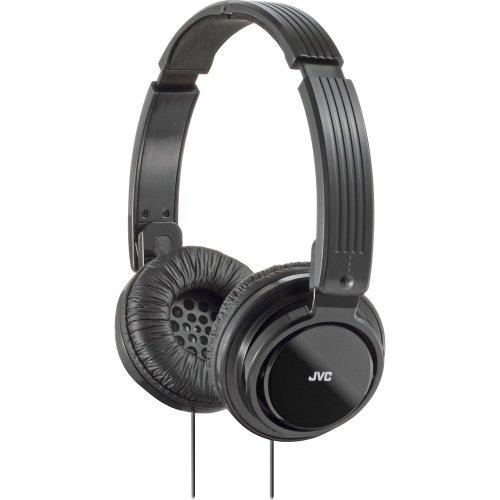 JVC HAS200B On-Ear Foldable Headphone, Black
