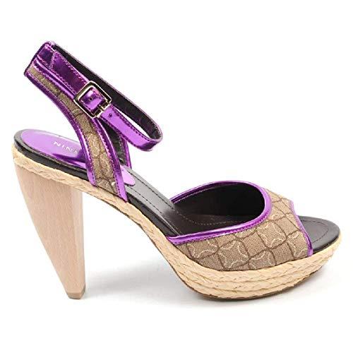 Sandalo Mnat Donna Mpnk Caviglia Nwciscoann Nine Con Multicolor West Cinturino 1q1wnprA