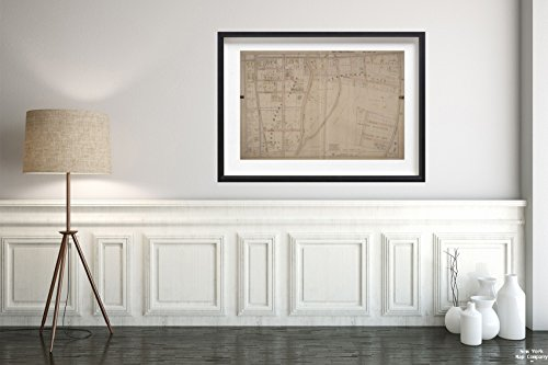 1899 Map of Mount Vernon, N.Y. Mount Vernon, Double Page Plate No. 10 Map Bounded by E. 3rd St, Columbus Ave, E. 5th St, 1st Ave Fairchild, John F. Vintage Fine Art Reproduction Ready to Frame