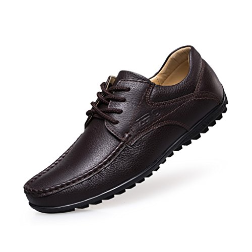 Zro Heren Classic Lace Up Schoenen Casual Oxford Brown