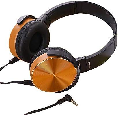 SamMoSon 2019 Auriculares Diadema, Cascos Bluetooth Inalambricos,Ver-Ear Teens con Micrófono Auriculares Plegables para DJ Auriculares De Juego con Cable De ...