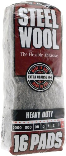Homax Products 4 4 Homax Steel Wool Pad, No Grit