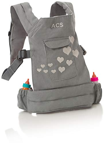 ACS Baby Doll Carrier Backpack - Grey, Fits 18