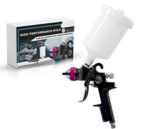 Paint Spray Gun HVLP Paint Sprayer for Cars, Home, and Shop (1.4 mm LEHVLP)