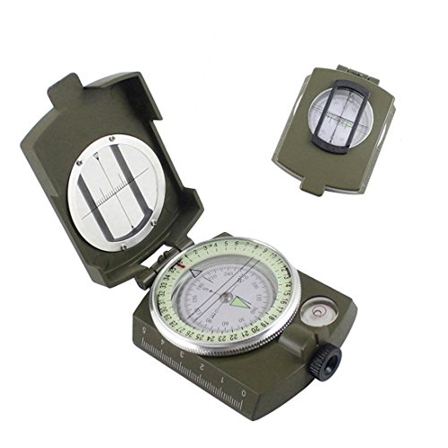 HOME DAILY SALE Metal Steel Sighting US Compass Luminous Geology Outdoor Sports Camping Hiking by HOME DAILY SALE