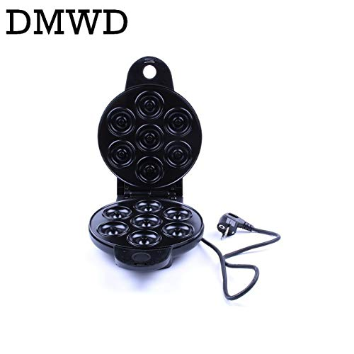 DMWD MINI Donut Making Machine Eggs Cake Baking Breakfast Waffle Electric Donut Maker Automatic Pancake Doughnut Makers 220V EU plug by DMWD