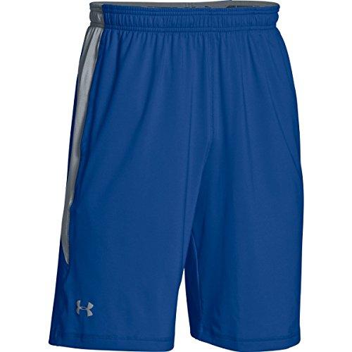 (Under Armour Team Raid Colorblock Men's Shorts (Royal/Steel, Medium))