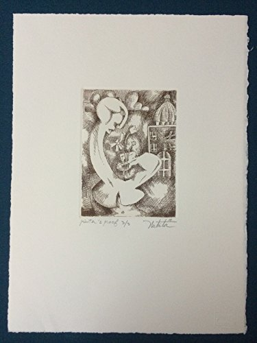 Alexandra Nechita Original Hand Signed Etching RARE Limited Edition 3/3 COA