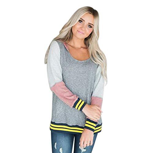 Shirt Con Cxq Camiseta Grey Cuello t Redondo De Mujer z66aTwq