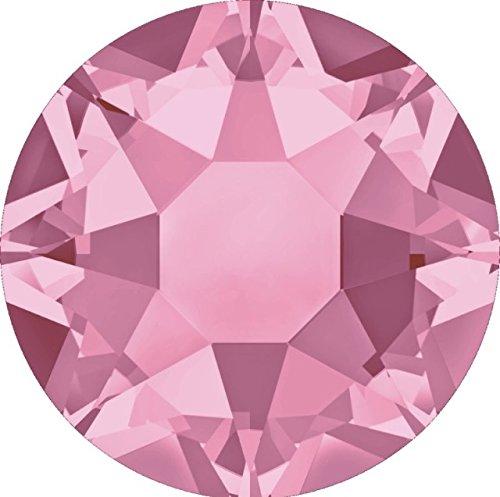 LIGHT ROSE (223) pink 288 pcs Swarovski 2058/2088 Crystal Flatbacks pink rhinestones nail art mixed with Sizes ss5, ss7, ss9, ss12, ss16, ss20, ss30