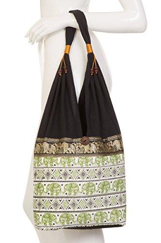 Hippie Elephant Design Bag Thai 2 Terrace Olive vqZ8W7gn
