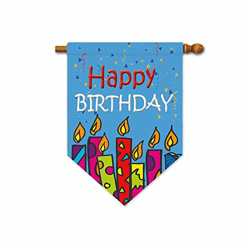 - KafePross House Flag Happy Birthday Candles Home Party Decotive Banner 28