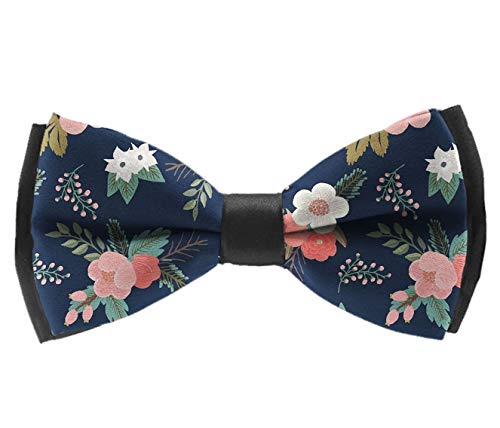 L Wright-King Men Floral Sweet Bouquets Bow Tie Party Banquet Bowtie Wedding Accessories ()