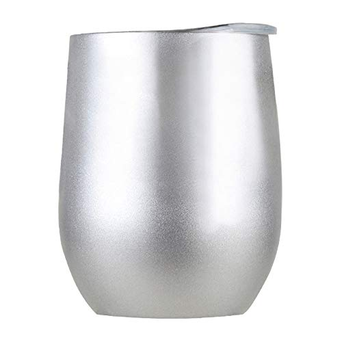 Creazy Stainless Steel Stemless Wine Water Cup Double Wall Vaccum Insulation (E)