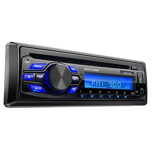 Som Automotivo MP3 Player Freedom Radio CD USB, Multilaser, P3239, Preto