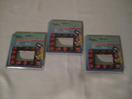 Light up Pocket Lens, Includes Bonus Case (3 pack)