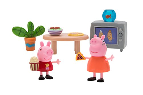 (Peppa Pig Little Rooms Movie Night Playset)