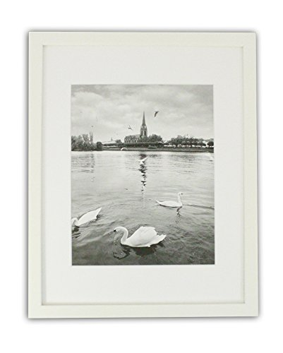 Golden State Art, White Photo Wood Collage Frame with REAL GLASS (11x14) by Golden State Art