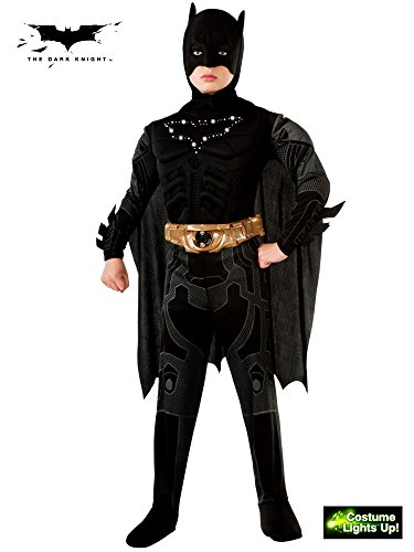 Wayne Family Costume (Batman Dark Knight Rises Child's Deluxe Light-Up Batman Costume with Mask and Cape - Small)