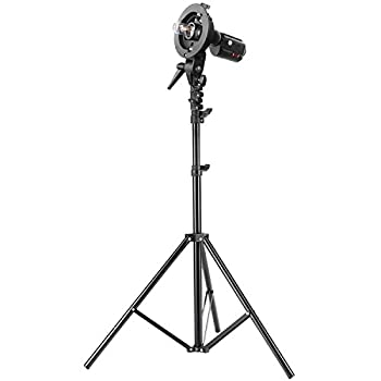 Neewer Studio Photography S-type Speedlite Bracket Holder With Bowens Mount & 75 Inches190 Centimeters Adjustable Light Stand For Flash Snoot Softbox Beauty Dish Reflector Umbrella 1