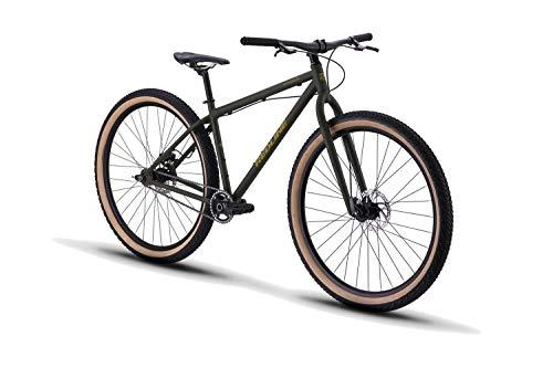 "Redline Bikes Monocog 29 Single Speed Mountain Bike 17"" Frame, Green, 17""/Medium"