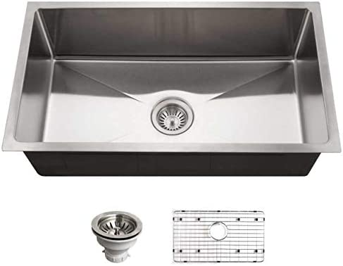 HOUZER NOG-4150 Nouvelle Kitchen Sink, 31-1 8-by-18-Inch, Stainless Steel
