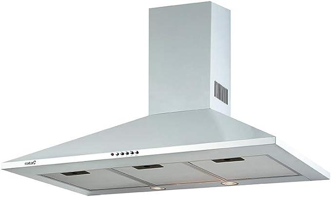 CATA OMEGA 700 WH 645 m³/h De pared Blanco C - Campana (645 m³/h, Canalizado/Recirculación, D, A, B, 71,8 dB): Amazon.es: Grandes electrodomésticos