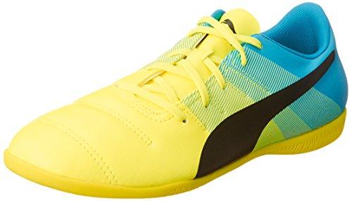 Puma evoPOWER 4.3 IT Jr, Unisex-Kinder Hallenschuhe, Gelb (safety yellow-black-atomic blue 01), 31 EU (12 Kinder UK)