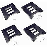 【TSUCIA】4枚セット PC用 2.5インチSSD HDD →3.5インチ 金属 マウント アダプター ブラケット ドック ハード ドライブ ホルダー (4枚セット)