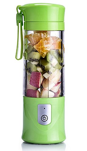 USB Electric Safety Juicer Cup, Fruit Juice mixer, Mini Portable Rechargeable Juicing Mixing Crush Ice Smoothie Travel Blender Mixer Machine ,420-530ml Water Bottle